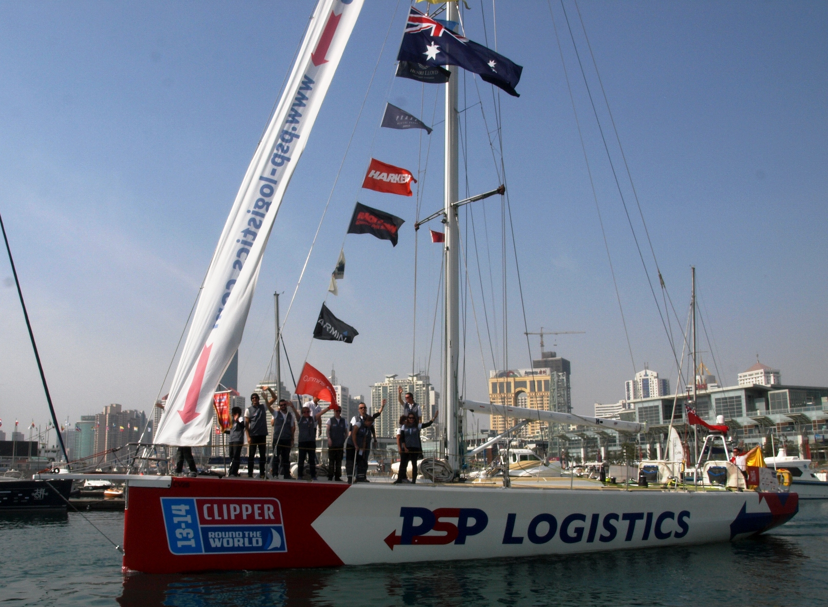 PSP Logistics leaves China for start of Leg 6  photo courtesy Clipper Round the World Race