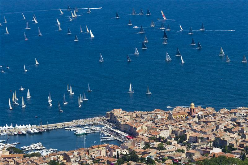 AERIAL VIEW OF SAINT-TROPEZ'S VIEUX PORT AND THE GIRAGLIA ROLEX CUP FLEET DURING THE 2013 EDITION BY Rolex - Carlo Borlenghi