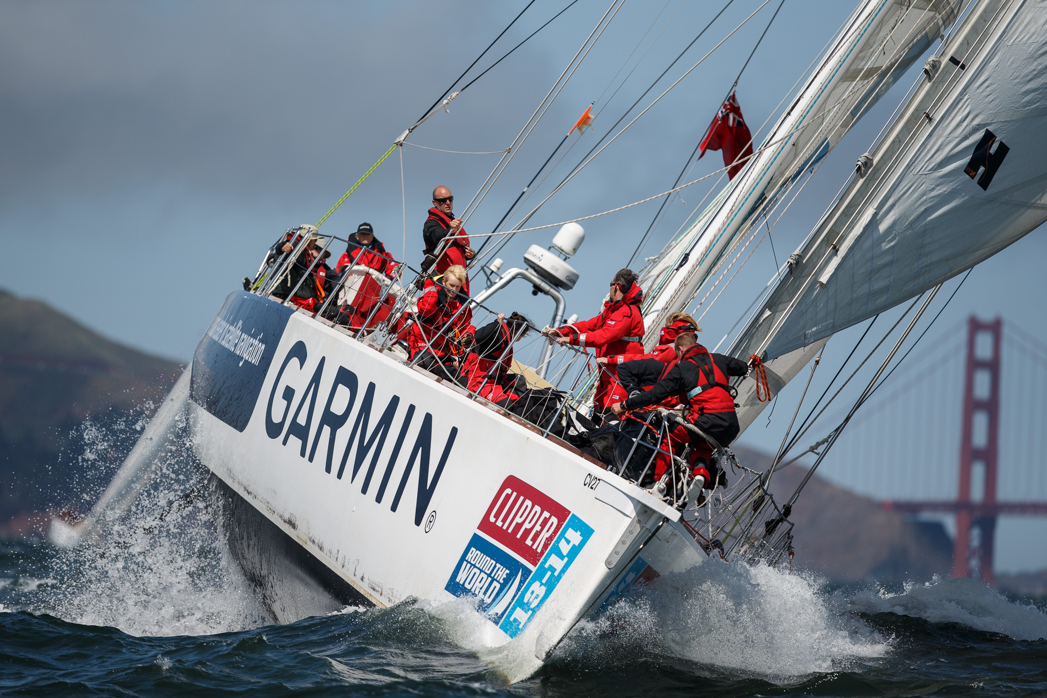 Team Garmin at the start of Race 11 in San Photo by Francisco_Abner Kingman Abner Kingman 2014©