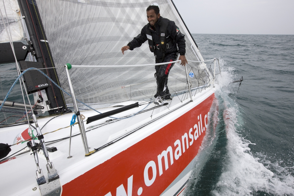 Jean-Marie Liot / Lloyd ImagesDescription:The Oman Sail M34 training in France prior to the 2013 season starting picture shows Mohamed Al Makhrini(OMA) bowman Jean-Marie Liot / Lloyd Images