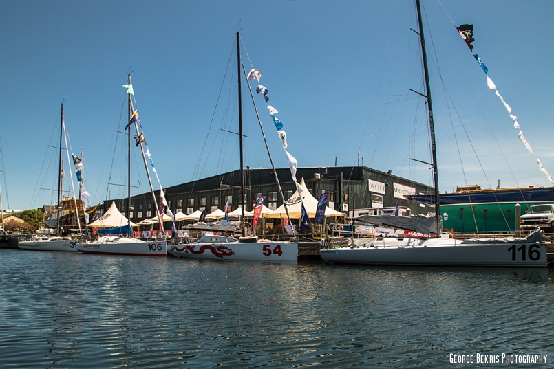 Atlantic Cup 2014 Fleet at the ready at Newport Shipyard (Photo by George Bekris)