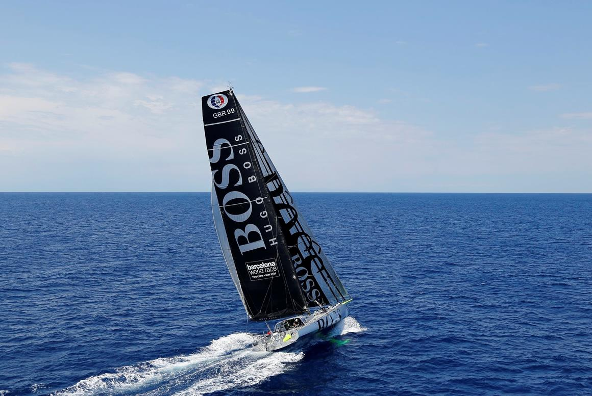 HHugo Boss, co-skippered by Ryan Breymaier and Pepe Ribes Win the IMOCA New York to Barcelona Race (Photo credit Benoit Stichelbaut/Sea & Co)