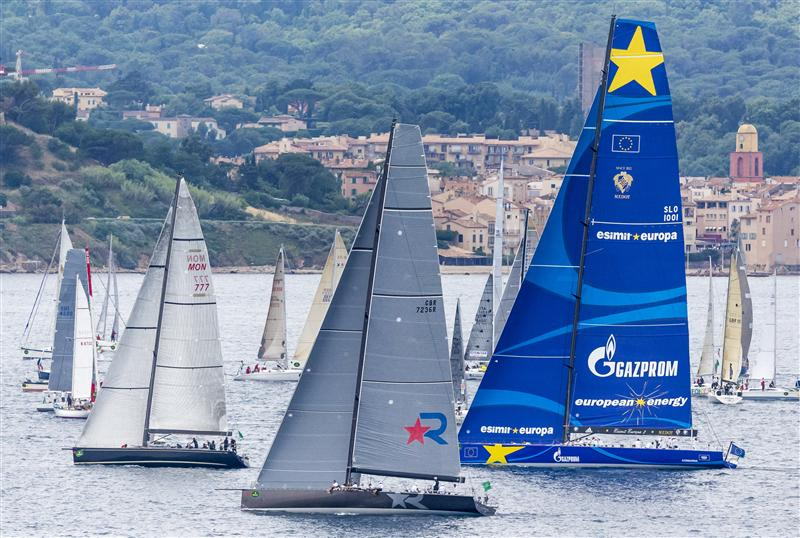 Big boat start of the offshore race in the Gulf of Saint-Tropez Race Start (Photo by Rolex/Carlo Borlenghi)