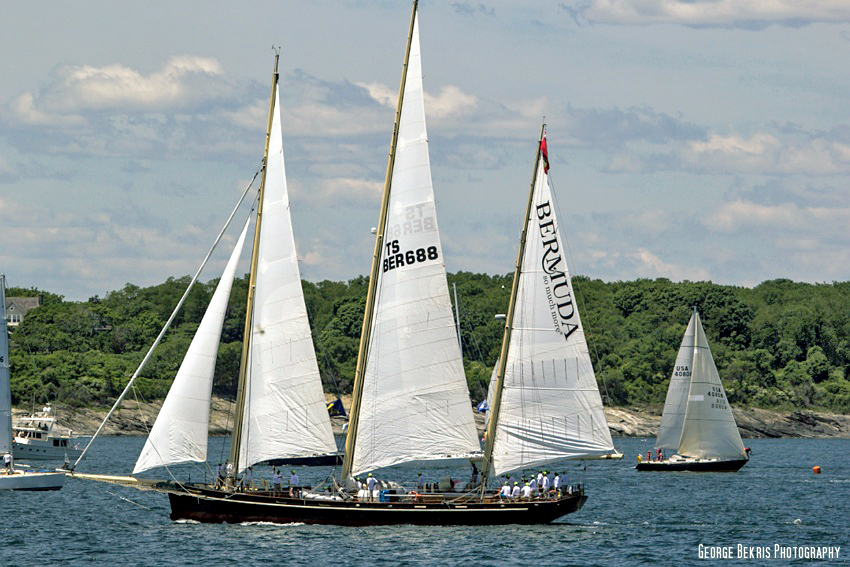 Spirit of Bermuda Starts off the Race for 2014 (Photo By George Bekris)