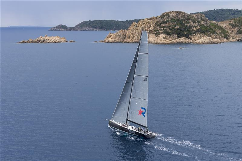 ROBERTISSIMA III (ITA) leaving the Gulf of St Tropez after the start of the offshore race ROBERTISSIMA III, Sail n: GBR7236R, Owner: ROBERTO TOMASINI GRINOVER, Group 0 (IRC >18.05mt)  (Photo by Rolex/Carlo Borlenghi)