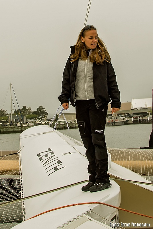 Dona Bertarelli on the slightly modified forward brace. (photo by George Bekris)