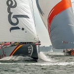 Team Alvimedica and Abu Dhabi Ocean Racing leave Newport for the UK