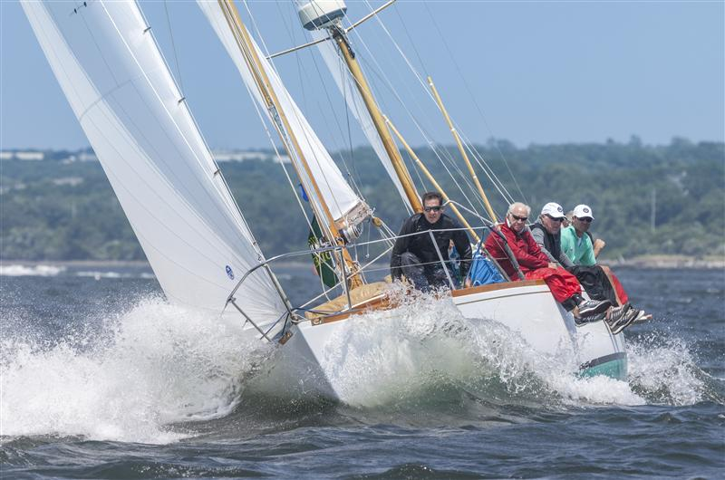 Past New York Yacht Club Commodore Charles Townsend's FIDELIO took first place in Classics Class 2 for Part I of Race Week FIDELIO, Sail Number: 351, Owner/Skipper: Charles Townsend, Class: Classic Rating Formula - Class 2, Yacht Type: S&S 39, Home Port: Middletown, RI, USA (Photo by Rolex/Daniel Forster)