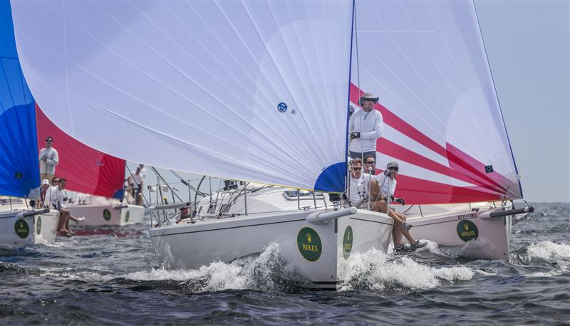 Jim Vos's SKOOT, the new J/109 North American Champion SKOOT, Sail Number:  USA 369, Owner/Skipper:  Jim Vos, Class:  J 109, Yacht Type:  J 109, Home Port:  New Canaan, CT, USA RUSH, Sail Number:  USA 51, Owner/Skipper:  Bill Sweetser, Class:  J 109, Yacht Type:  J 109, Home Port:  Annapolis, MD, USA  (Photo by Rolex / Daniel Forster)
