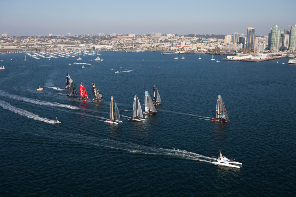 16/11/2011- San Diego (USA,CA) - 34th America's Cup - San Diego America's Cup World Series - Fleet Race