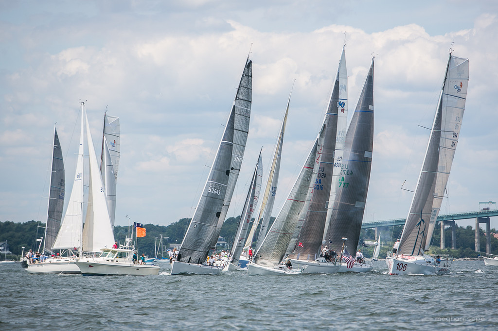 The PHRF Class start at the 2013 Ida Lewis Distance Race  (Photo by Meghan Sepe)