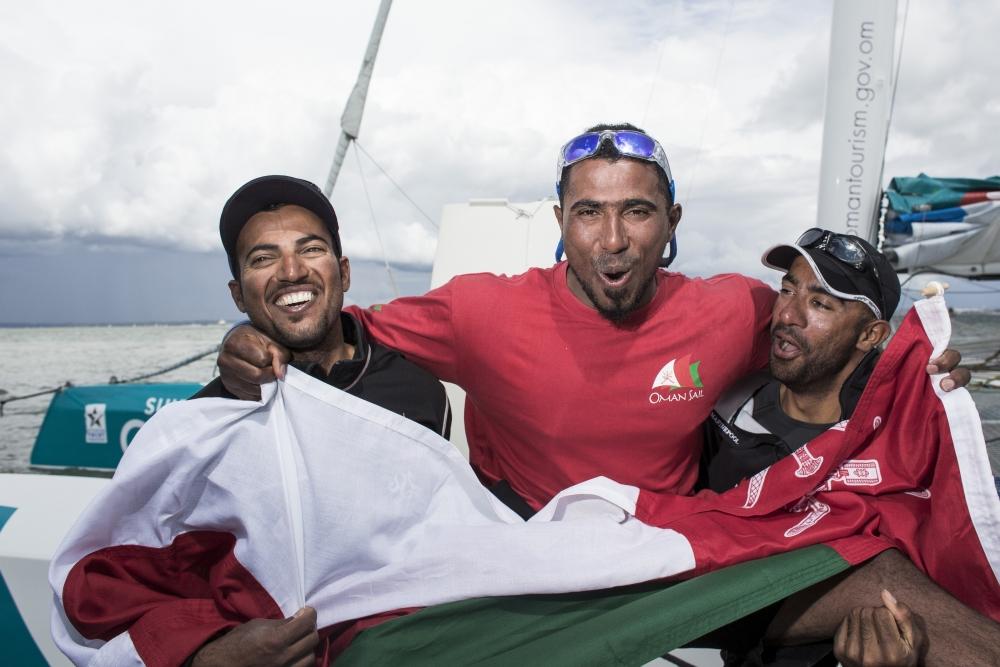Yassir Al Rahbi (OMA), Sami Al Shukaili (OMA), Fahad Al Hasni (OMA) Credit - Lloyd Images
