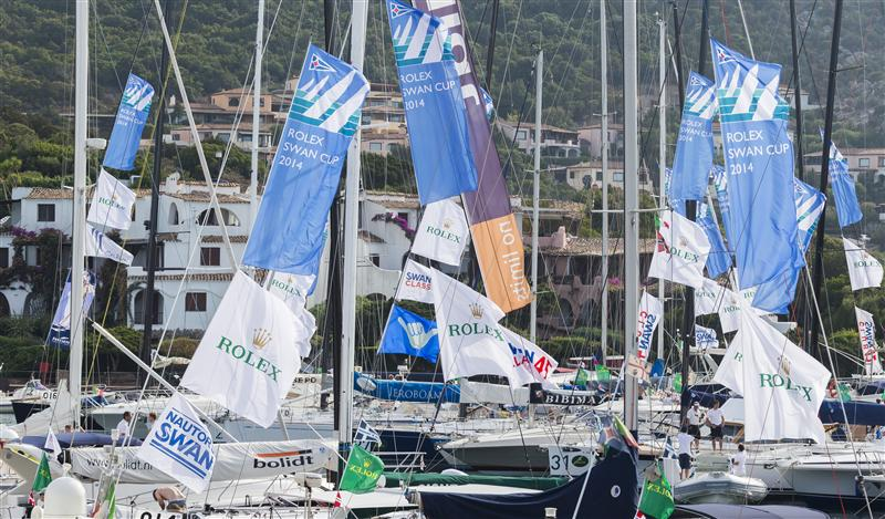 Dockside ambience in Porto Cervo for Swan Cup (Photo by Rolex / Carlo Borlenghi)