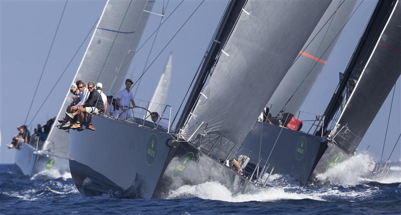 Jean-Charles Decaux's J ONE  leading the Wally fleet (Photo by Rolex / Carlo Borlenghi)