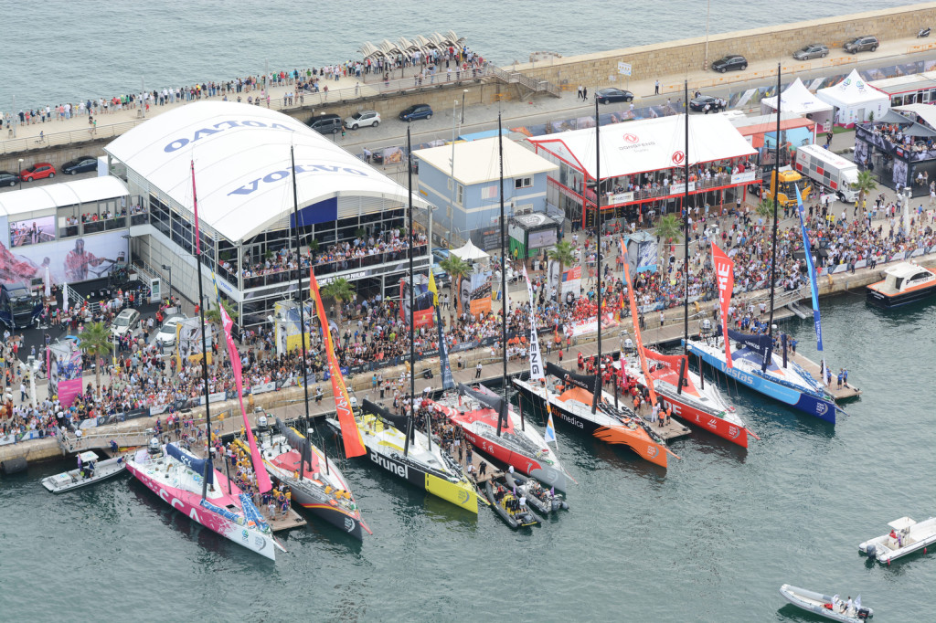The Start of the Volvo Ocean Race 2014-15 (Photo by Davis Ramos/Volvo Ocean Race )