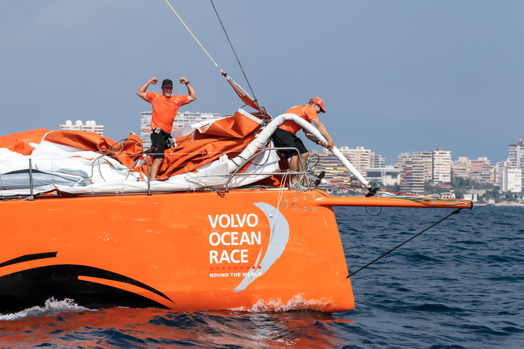 October 4, 2014. Team Alvimedica wins the In-Port Race in Alicante.