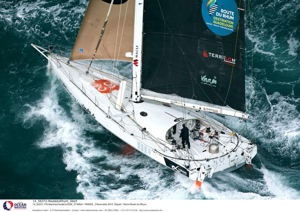 ©Th.Martinez/Sea&Co/OSM.  ST MALO - FRANCE . 2 Novembre 2014 . Départ  10eme Route du Rhum.