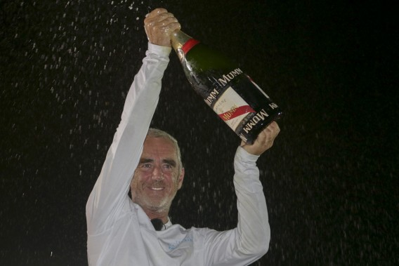 Loick Peyron wins the 2014 Route du Rhum on Maxi Trimaran Banque Populaire VII (Photo © ALEXIS COURCOUX  )