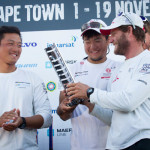 Charles Caudrelier and Team Dongfeng grab a happy 2nd place finish for Leg 1 of the Volvo Ocean Race 2014-15 just minutes behind Abu Dhabi Racing Team