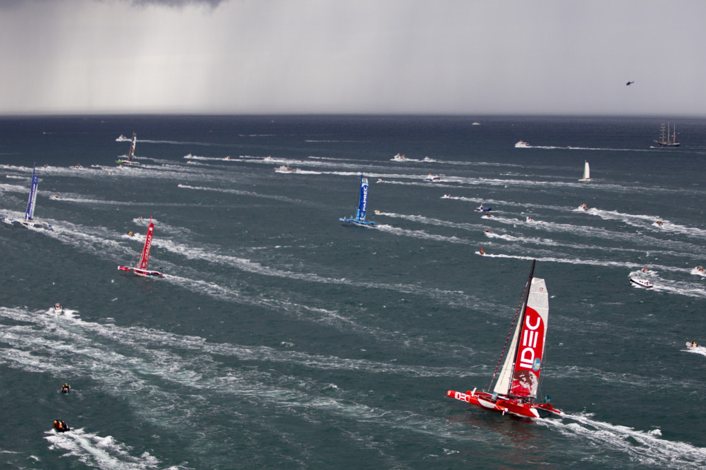 ROUTE DU RHUM - DESTINATION GUADELOUPE 2014 Start photo © ALEXIS COURCOUX