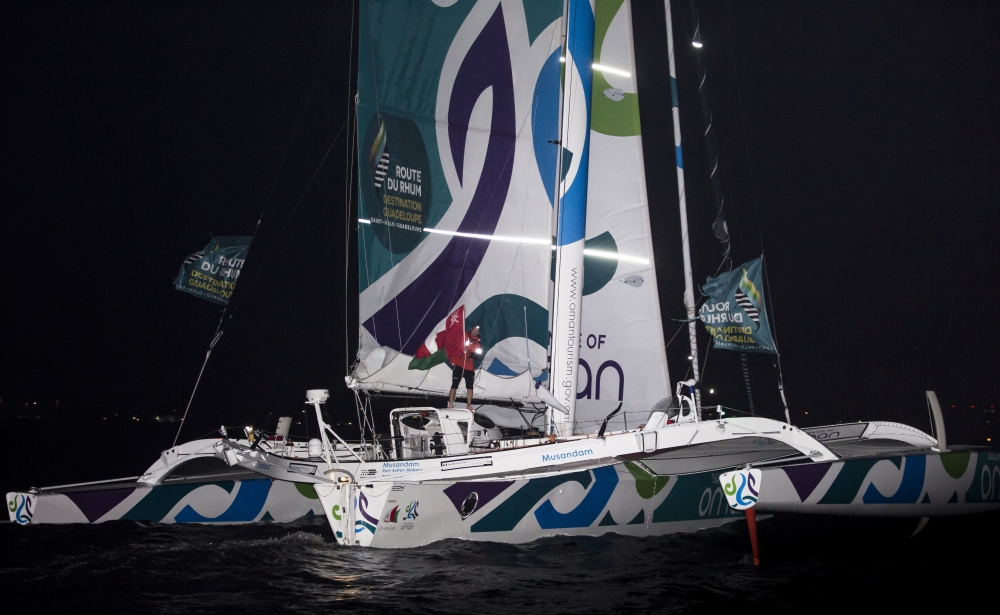 Sidney Gavignet and Oman Sail - Musandam finish the Route du Rhum in Guadaloupe (Photo © Mark Lloyd / Lloyd Images )