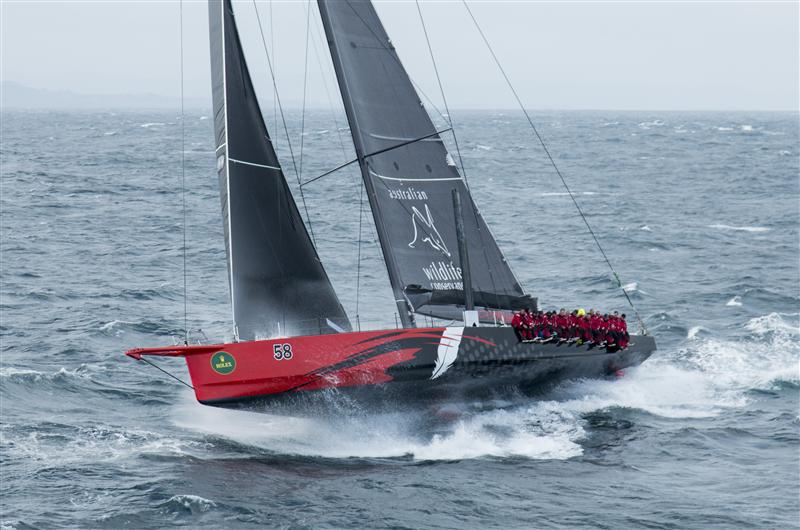 Racing COMANCHE, Sail n: 12358, Bow n: 58, Design: Verdier Yacht Design & Vplp, Owner: Jim Clark & Kristy Hinze-Clark, Skipper: Ken Read (Photo by Rolex / Daniel Forster)