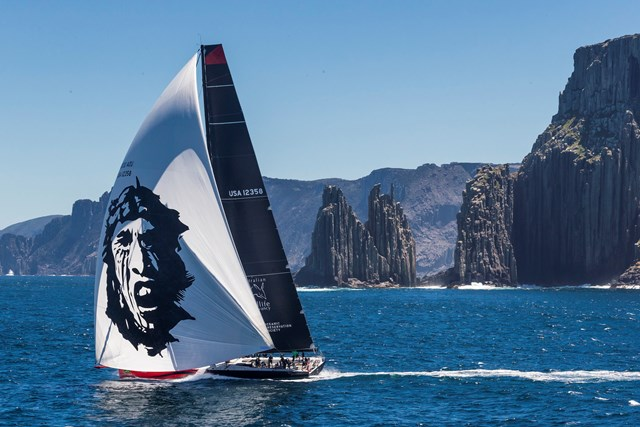 Comanche has unfinished business with Wild Oats XI after being bested by just a few miles due to light airs in the middle of the course (Photo by Rolex/Carlo Borlenghi)