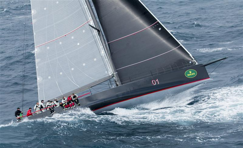 MATT ALLEN'S ICHI BAN DURING THE FIRST EVENING OF THE RACE  Racing ICHI BAN, Sail n: AUS01, Bow n: O1, Design: Carkeek 60, Owner: Matt Allen, Skipper: Matt Allen (Photo by Rolex/Daniel Forster)
