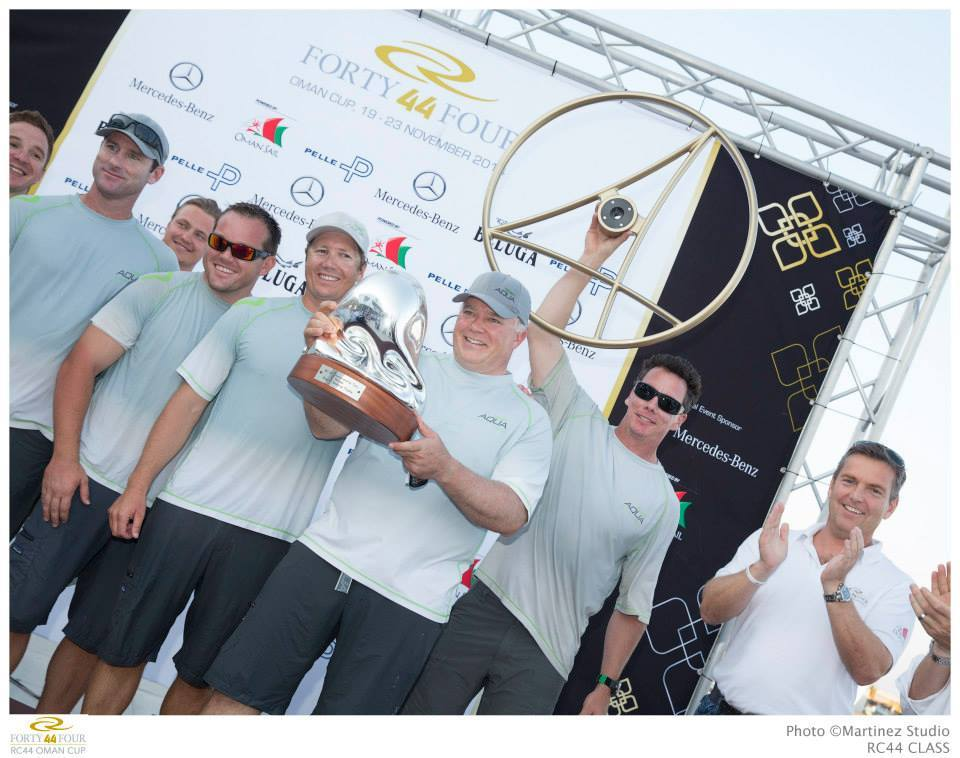RC44 Team Aqua Championship Prizegiving (Photo © Nico  Martinez )