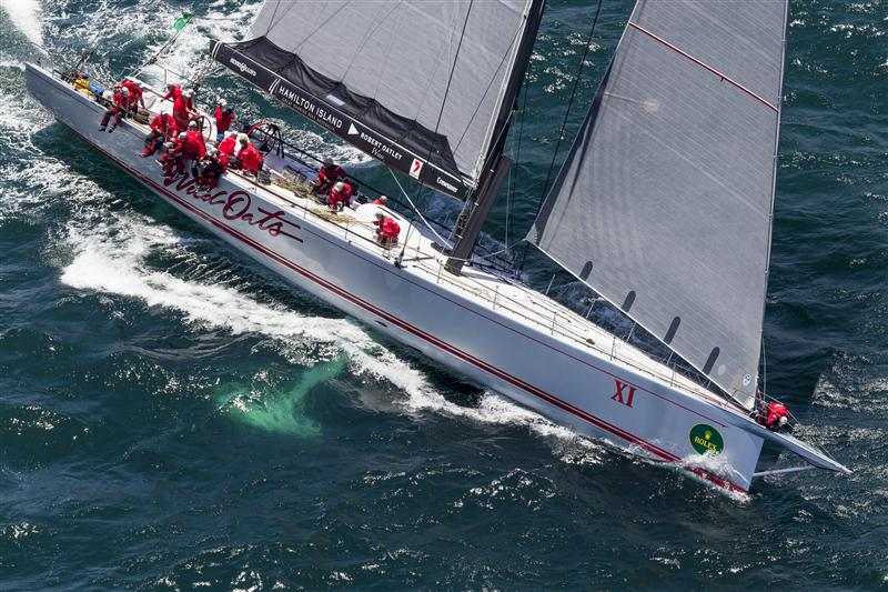 WILD OATS XI (AUS) set the actual racecourse record in 2012 Race Start - WILD OATS XI, Sail n: AUS10001, Bow n: XI, Design: Reichel Pugh 100, Owner: Robert Oatley, Skipper: Mark Richards  (Photo by Rolex/Carlo Borlenghi)