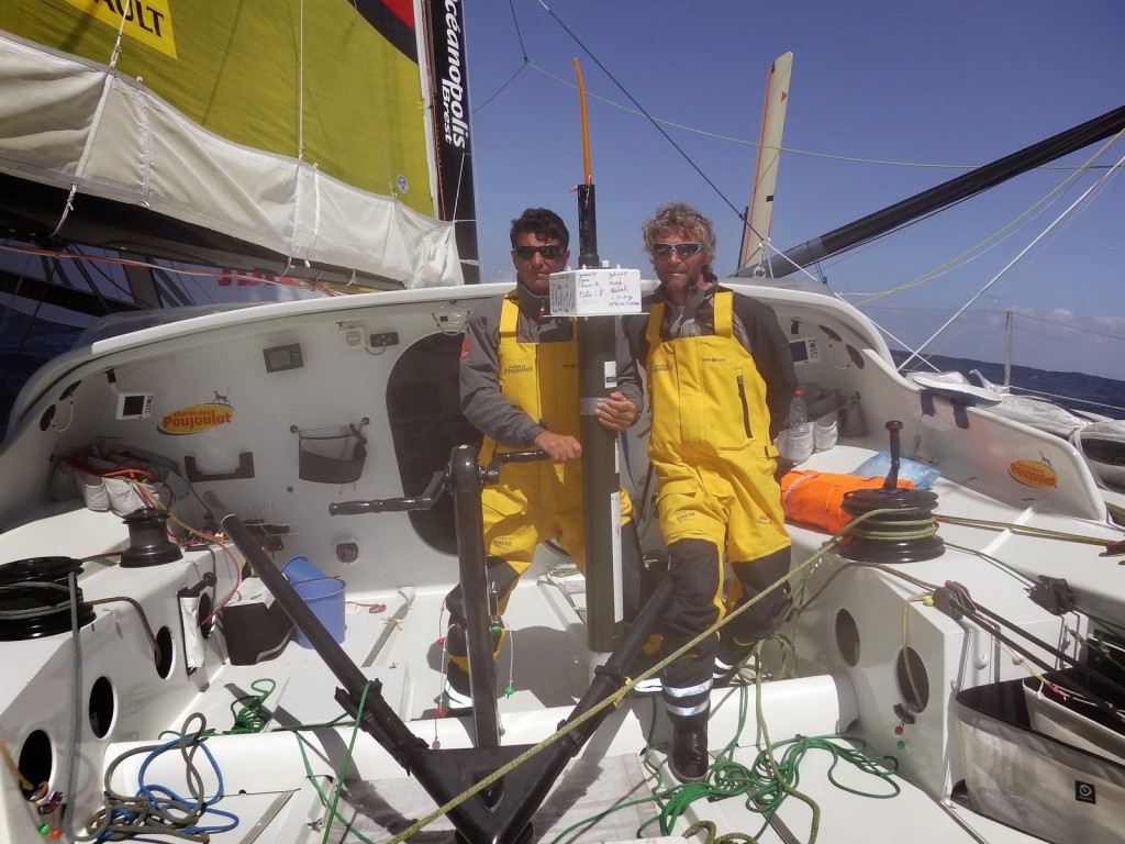 Bernard Stamm (SUI) and Cheminées Poujopulat (Photo  copyright Cheminées Poujopulat / Barcelona World Race)