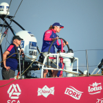 Team SCA takes their first win leading the pack in the Volvo Ocean Race Abu Dhabi In-port Race