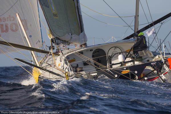 Barcelona (ESP), Barcelona World Race 2014-15, Cheminées Poujoulat (Bernard Stamm, Jean Le Cam)