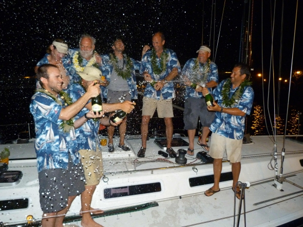 Double Take, first to finish in 2012 (Photo courtesy of Vic-Maui Race)