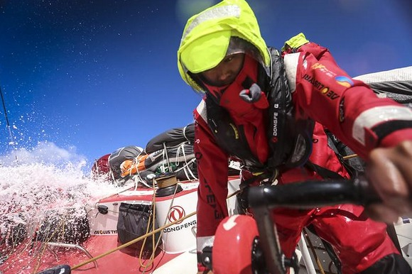 Into the Southern Ocean for Team Dongfeng  (Photo by Ya​nn Riou/​ Dongfen​g Race T​eam)