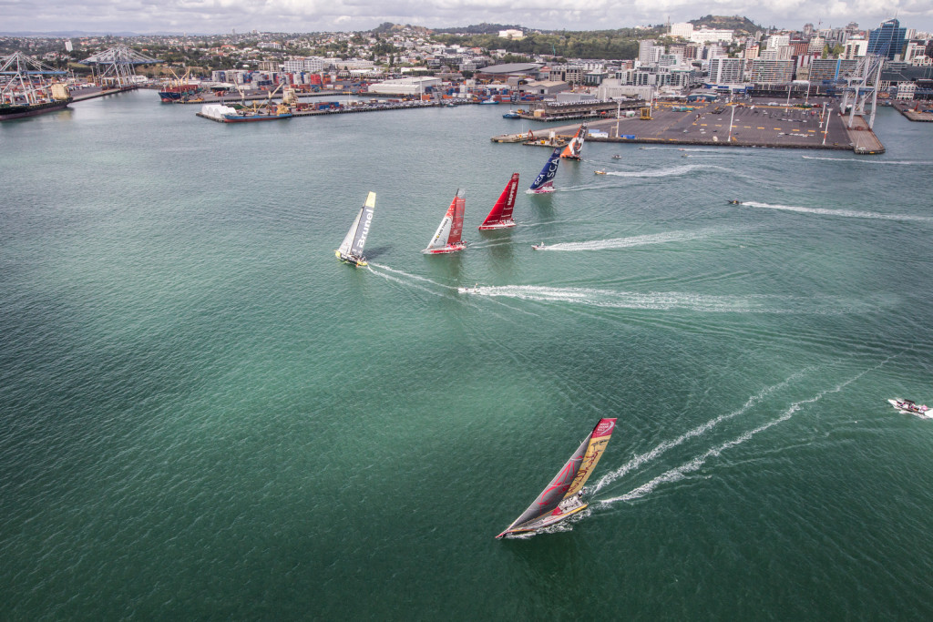 March 12, 2015. Practice Race in Auckland. (Photo  © Ainhoa Sanchez/Volvo Ocean Race)