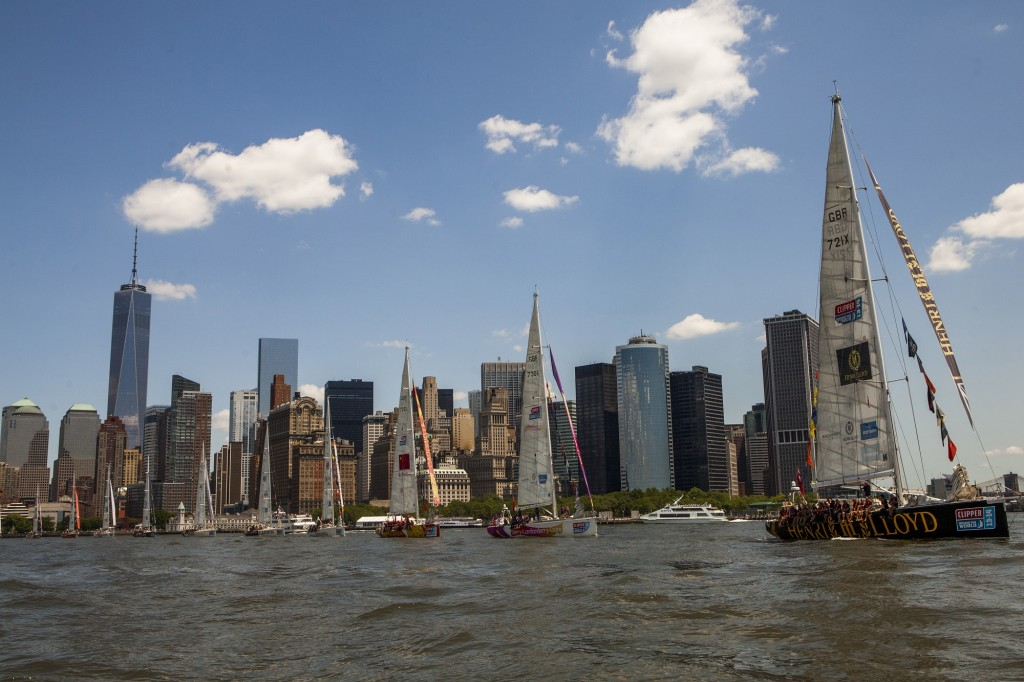 Clipper Race fleet leaves New York in 2013-14 edition (Photo © OnEdition)
