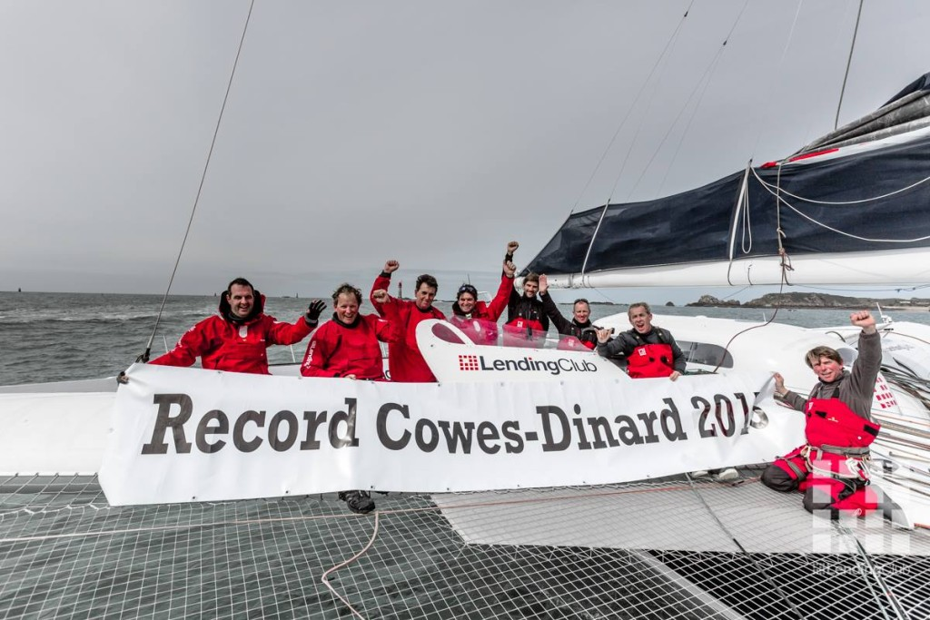 Lending Club Record Cowes to Dinard 2015 Quin Bisset