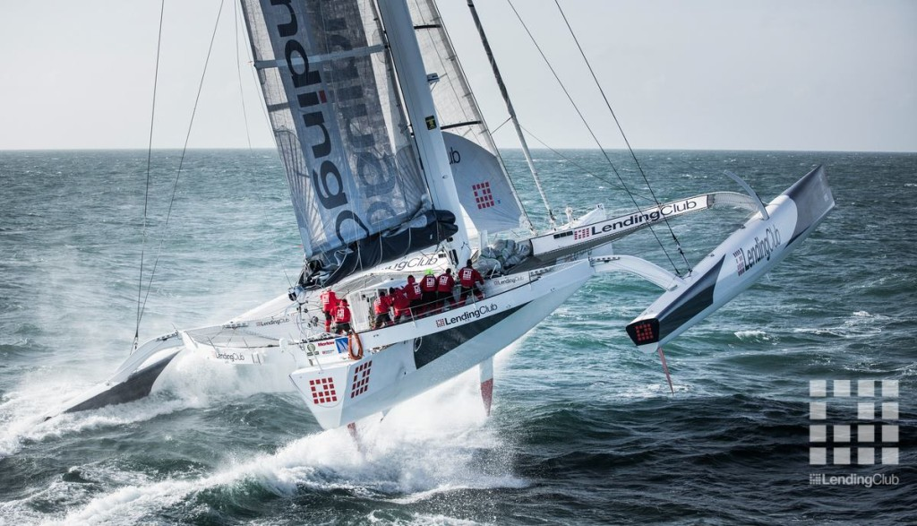 Lending Club 2 World Record in  2015  From Cowes UK toDinard, France  (Photo by Mark Lloyd Images )