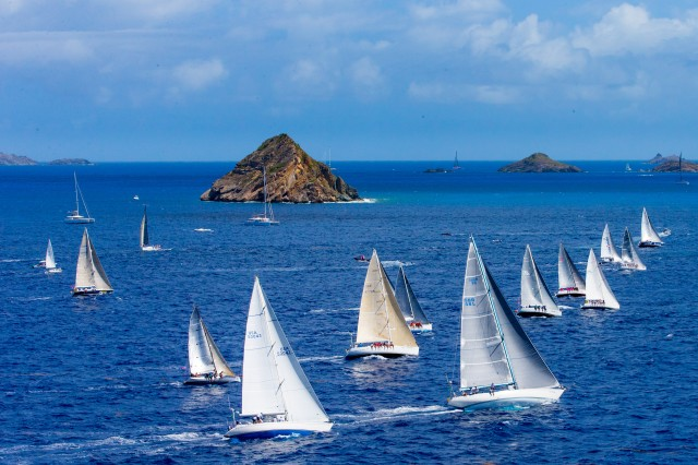 Part of the Les Voiles de St. Barth 2015 the fleet at St. Barth   (Photo © Jouany Christophe)