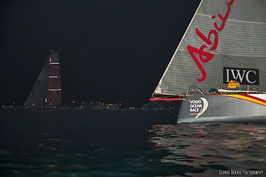 Team Dongfeng holds off Abu Dhabi Racing Team to Win Leg 6, (Photo by George Bekris)