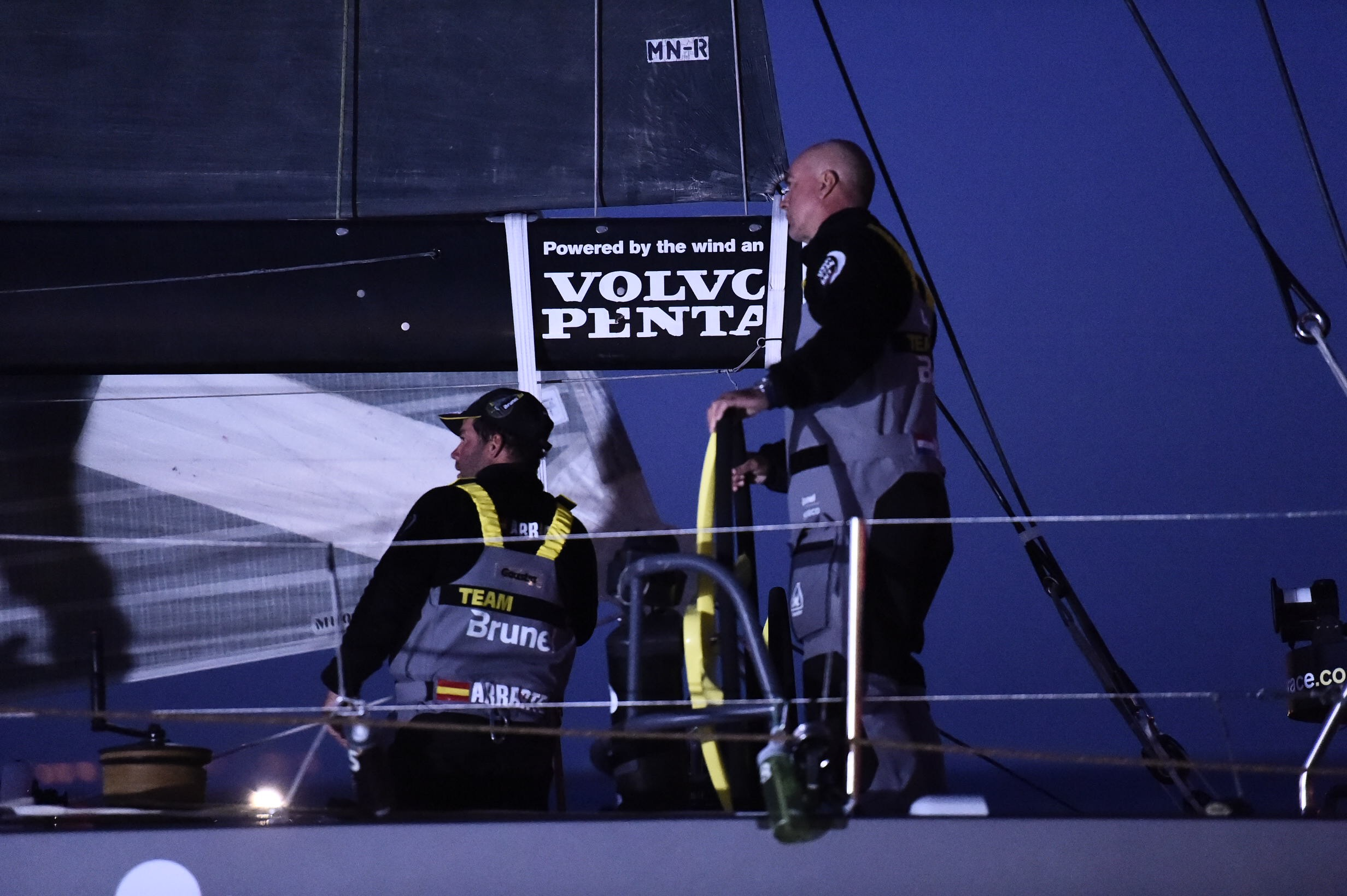 Team Brunel arrives to Lisbon in first position after Leg 7 from Newport. (Photo by Ricardo Pinto / Volvo Ocean Race )