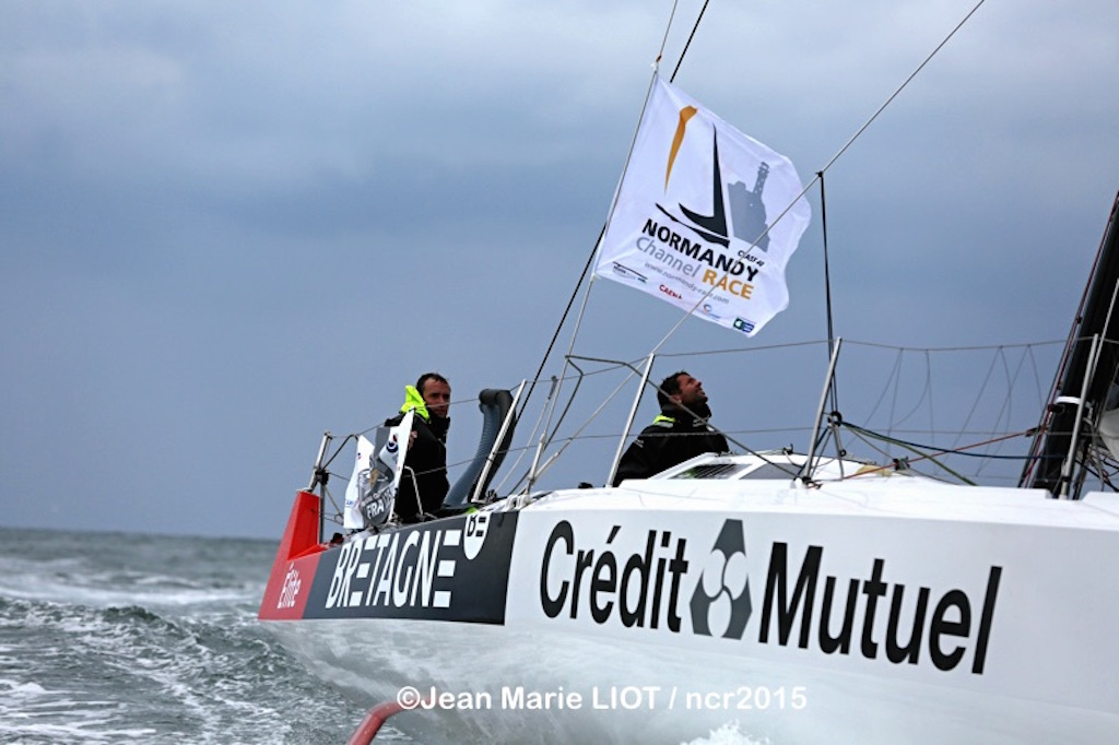 Bretagne Credit Mutuel Winners Normandy Channel Race 2015 (Photo by Jean-Marie Liot / NCR2015)