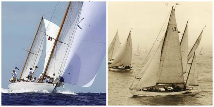 "Dorade present and past. (Photos courtesy of Dorade ""Return to Blue Water"")"