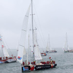 LMAX Exchange Leads The Fleet Out of Southend at the Start of the Clipper Race 2015-16
