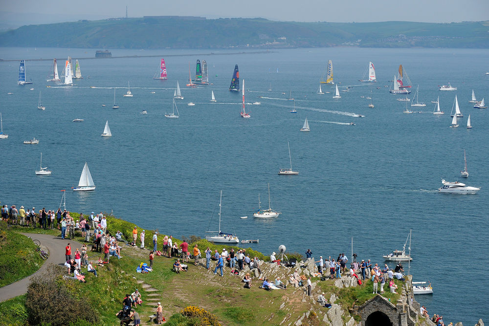 Plymouth will host the start of the Transat single-handed ocean yacht race where around 40 boats are expected on the startline on 2nd May. (Photo © Vincent Curutchet/DPPI)