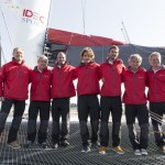 Francis Joyon's crew on the new maxi-trimaran IDEC SPORT for upcoming Jules Verne Trophy attempt