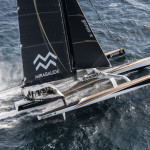 Dona Bertarelli and Yann Guichard introduce the Spindrift 2 crew for the Jules Verne Trophy