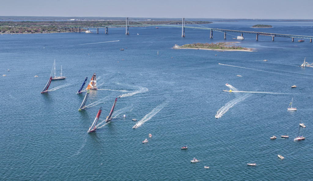 May 14, 2015. Volvo Ocean Race Practice Race in Newport. ( Photo by Ainhoa Sanchez /Volvo Ocean Race )