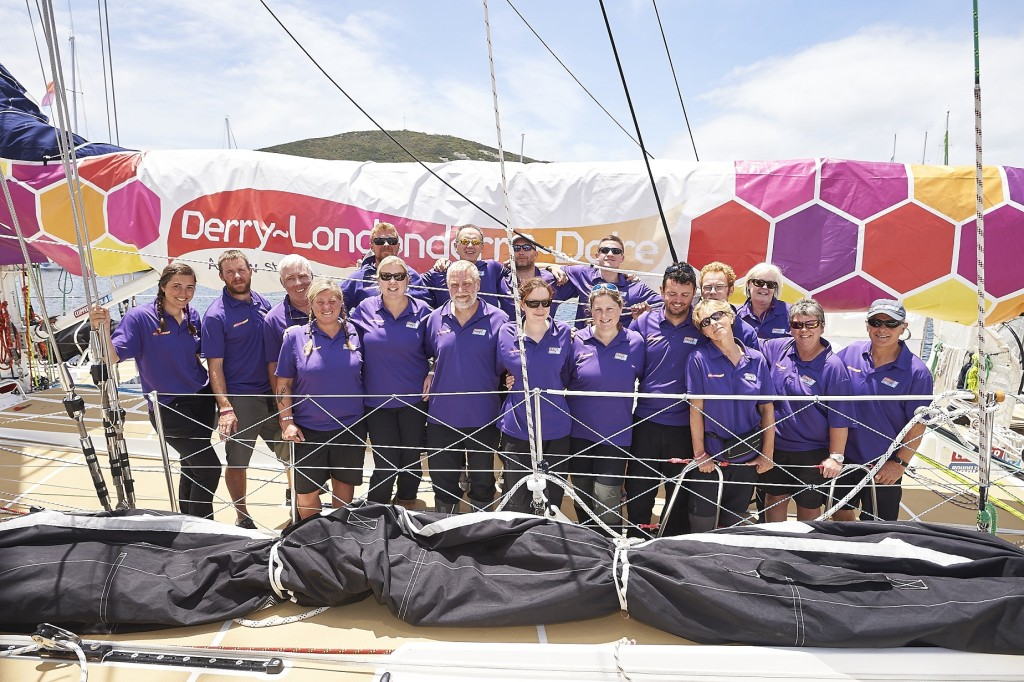 Derry~Londonderry~Doire crew in Albany (Photo courtesy of the Clipper Race)